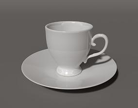 saucer 3D Tea Cup