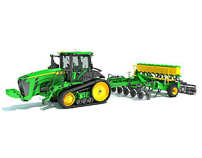 3D Tractor with Seed Drill farm