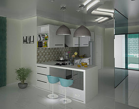Kitchen 3D model low-poly