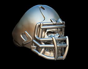 Skull football ring 3D printable model