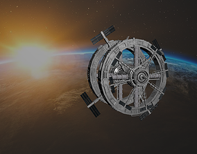3D model low-poly Space Station