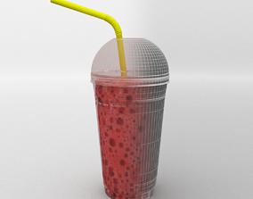 Plastic Shake Glass 3D model