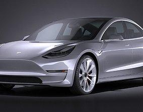 Tesla Model 3 2018 3D electric