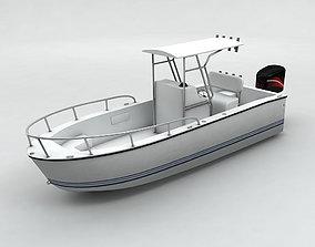 3D model Fishing Motor Boat Boston Whaler 2