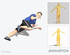 Side plank knee bend Exercise Man Animation 3D asset