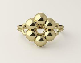 Molecule design ring gold 3D print model