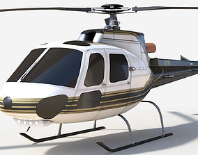 3D model VR / AR ready Helicopter air