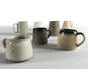 Ceramic Mugs and Pitchers 3D model