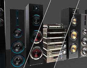 HI-FI Audio components pack 3D model