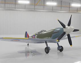 Supermarine Spitfire 3D Model low-poly