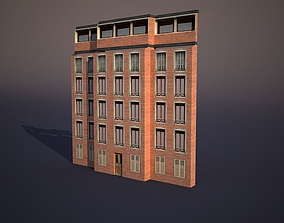Apartment House 3D model low-poly hotel