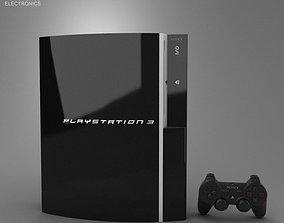 Sony PlayStation 3 3D asset