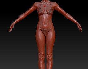 character woman 3D asset VR / AR ready