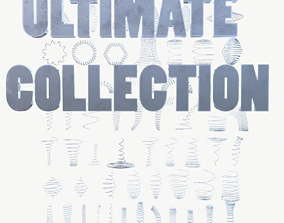 3D Metal Spiral Spring ULTIMATE COLLECTION