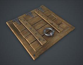 3D model Wooden Trapdoor