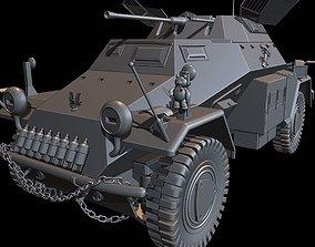 3D printable model SdKfz 222 track tanks