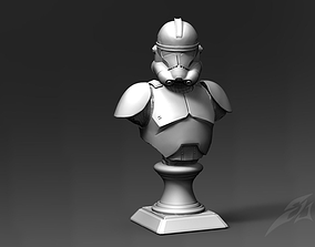 3D printable model Clone galaxy Trooper P2 Bust Fan Art