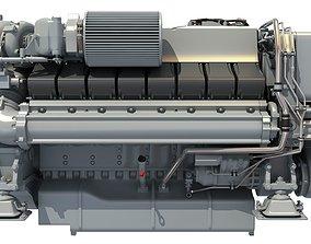 Yacht Engine - 3D Models