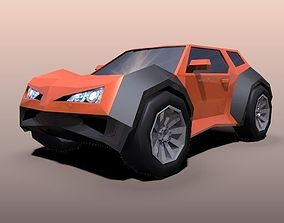 Lowpoly crossover concept vehicle 3D model realtime