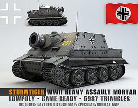 Low Poly Sturmtiger ww2 german heavy assault 3D asset