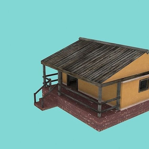Low Poly FPS Test Building