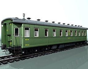 3D 6-axle passenger railcar