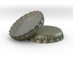 food Tin bottle Screw Cap 3D