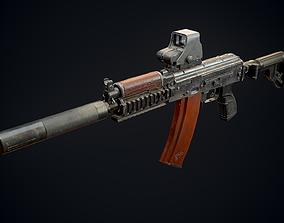 3D model AKS74U tactical