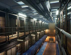 Prison 3D model low-poly