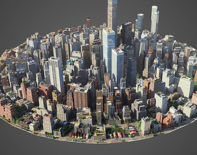 3D asset game-ready Round city C3