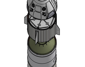 SpaceX Falcon 9 Rocket 3D Printable