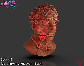 Dr Jekyll and Mr Hyde Timelapse and Model zbrush