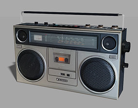 music Retro Boom Box Ghetto Blaster 3D