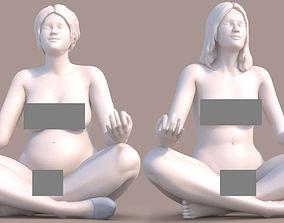 Woman Yoga 3D print model sexy