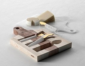 Marbled Cheese Board Set 3D