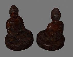 3D model Wooden Buddha Statues