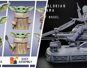 3D The Mandalorian Diorama and The Child Baby Yoda