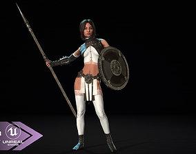 3D asset Defender Girl