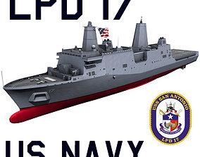 3D US Navy LPD-17 San Antonio Class Amphibious Transport 1