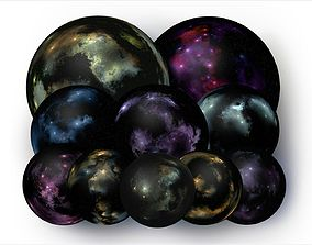 Nebula Spherical Maps and Skyboxes 8192x4096 px 3D model