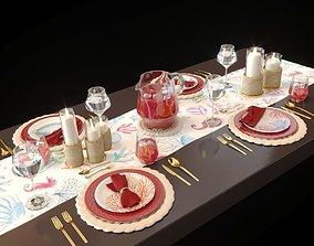 Table setting Sea life 3D model