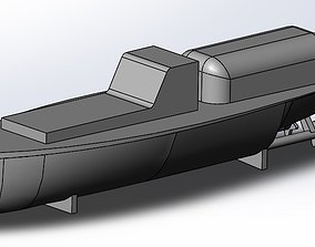 Japanese Row boat and Utility or Secretary boat for 3D