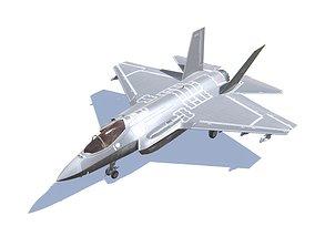 F-35 Lightning Jet Fighter Aircraft 3D asset