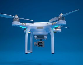 3D quadrocopter drone high detailed