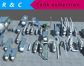 3D model industry tanks