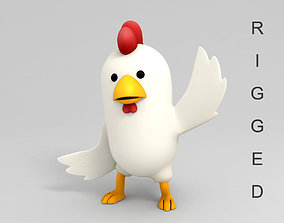 Rigged Chicken Character 3D model