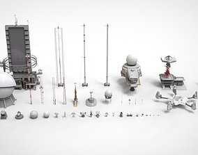 sci-fi antenna collection 3D model