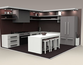 3D model Low Poly Interiors - Kitchen