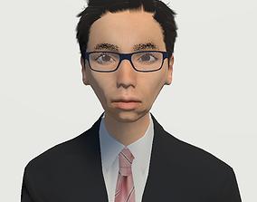 animated Unity Humanoid Model Male 013