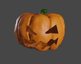 Pumpkin Head Halloween High Poly - Cabeca Abobora 3D